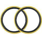SE Bikes Cub 26 x 2.0 BMX Replacement OEM Clincher Dirt All Terrain Street Wire Bead Two Bike Tire Pair (Yellow)