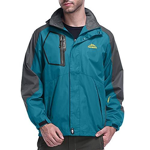Oversized Winter Coats for Mens Spring Autumn Outdoor Hoodie Zipper Hat Removable Sport Assault Outerwear