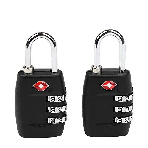 TSA Equipaje Locks, Ballery 2 x Candado TSA Equipaje de Seguridad, Bolsa De Viaje, Cerraduras De Equipaje