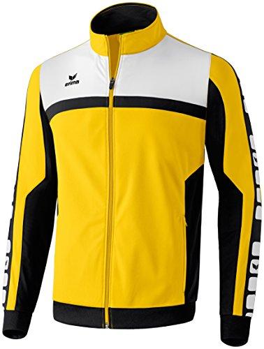 Erima Herren 5-CUBES Teamline Polyesterjacke, gelb/schwarz/weiß, S