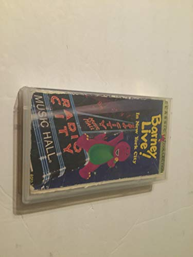 Barney Live In New York City Vhs Tape
