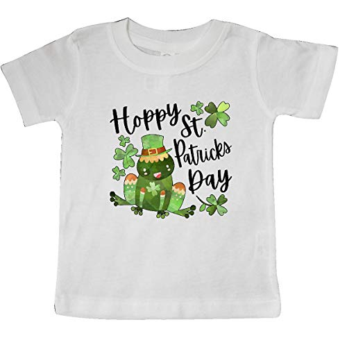 inktastic Hoppy St. Patrick's Day Cute Frog Baby T-Shirt 12 Months White 3a0a3