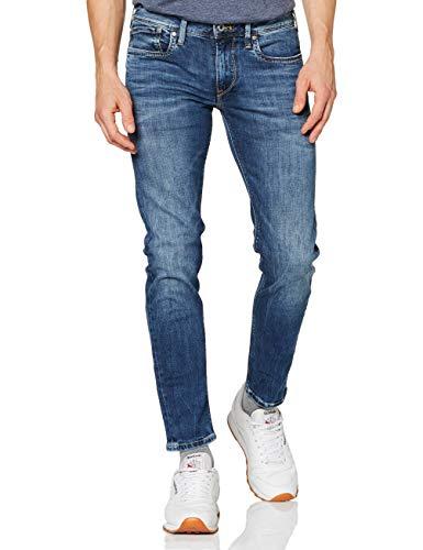 Pepe Jeans Hatch Vaqueros, Blue Denim Z23, 32W / 32L para Hombre