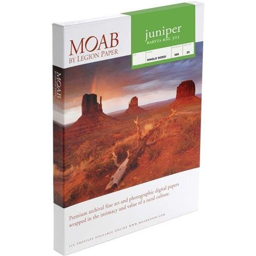 Moab Juniper Baryta Rag Glossy A3+ Fine Art Inkjet Print Paper, 13x19