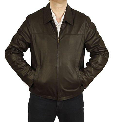 Veste Homme Style « Harrington » en Cuir « Coco Buff » - Taille L