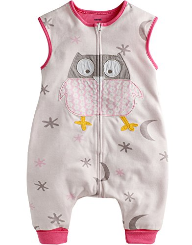 Vaenait Baby 86–110 Tout-Petits Enfants 100% Coton Pyjama Sacs de Couchage Couverture Cotton Owl - Rose - Small
