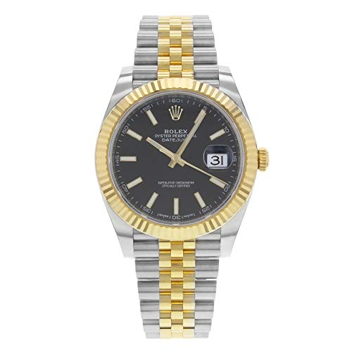 Rolex Datejust 41nero quadrante acciaio e 18K giallo oro Giubileo mens orologio 126333BKSJ