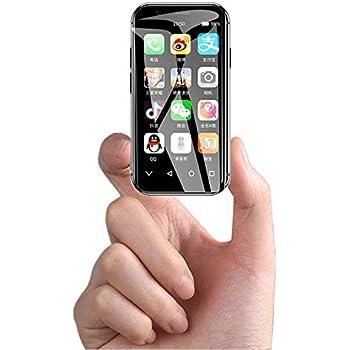 SOYES XSミニスマートフォン2GB 16GB / 3GB 32GB Android 6.0 1580mAh 4G Wifi GPS ガラス本体、バックアップデュアルカード電話、フェイスロック解除 (黒, 3GB+32GB)