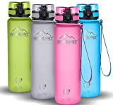 NEWSUMIT Botella De Agua Deportiva Superior - BPA Free Tritan - 350ml - 500ml -1000ml - Todo Uso (Rosa, 350ml - 12oz)