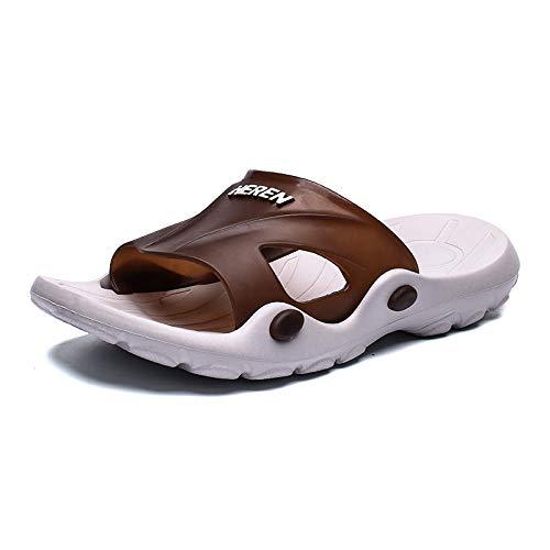 Yumanluo Hombre Verano Zapatillas Flip Flops Sandal Zapatos de Playa y Piscina,Zapatos de Playa Personalizados-marrón_3 8