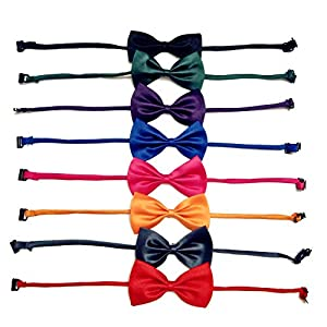 ATITOWEL 8 Pack Bow Ties for Dogs Cat, Adjustable Bow Ties, Dogs Cat Bow Tie, Detachable Kitty Bow Tie for Dog Accessories Gift
