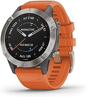 """Garmin fnix 6 Sapphire smartwatch Orange,Titanium 3.3 cm (1.3"""") GPS (satellite) - Garmin fnix 6 Sapphire, 3.3 cm (1.3""""), T..."""