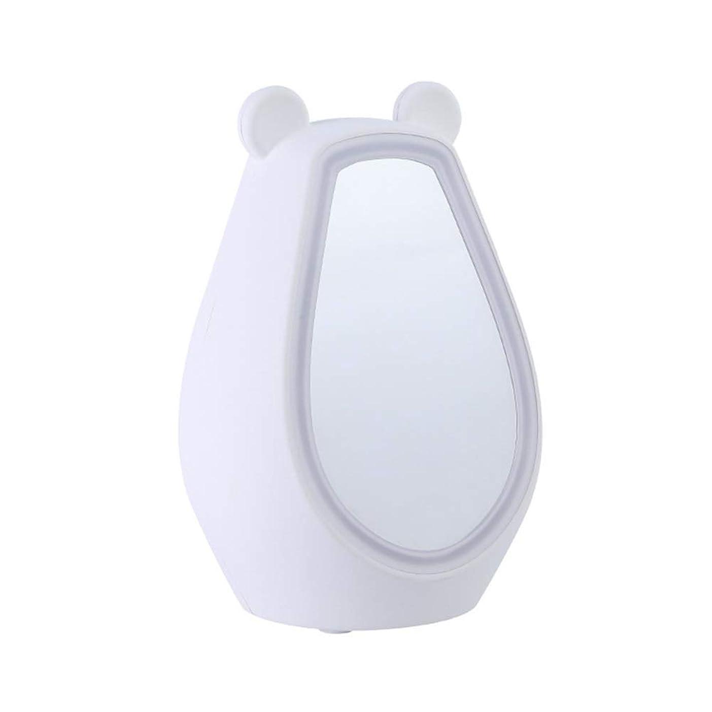 豊かにする名詞レンズクリエイティブled化粧鏡目覚まし時計多機能美容ミラースクエアデスクトップミラーブルートゥーススピーカーusbプラグインミラー