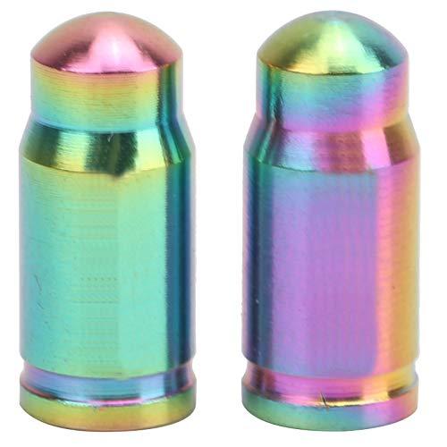 Tapas de válvula, 2 piezas de aleación de titanio, colorid