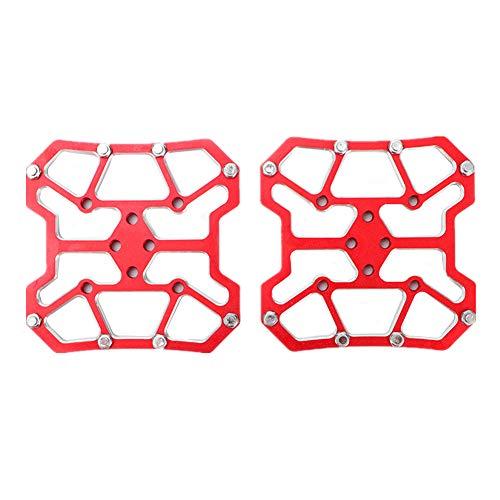 calas Spinning calas MTB Ciclo de Tacos Cala Pedales y Zapatillas Bicicleta Tacos Red,One Size
