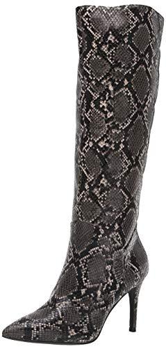 Steve Madden Women's Kinga Fashion Boot, Grey Snake, 7 M US