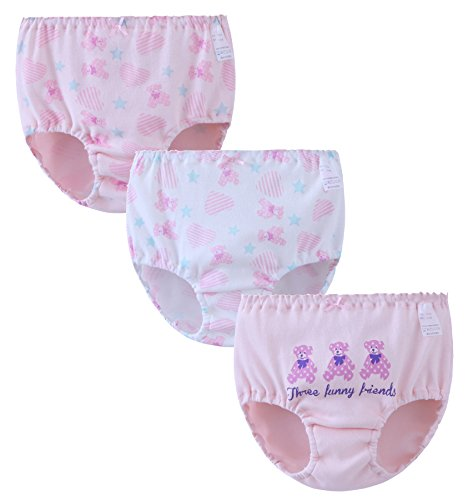 ABClothing ABClothing Teen Mädchen Unterwäsche 3er Pack Mixed Briefs/Pants/Knickers 1,5-12 Jahre