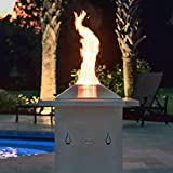 Blaze 29-Inch Square Stainless Steel Pellet Fire Pit - BLZ-FP-Pellet