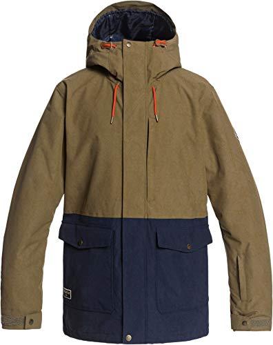 Quiksilver Horizon Snowboard Jacket Mens Sz L Military Olive