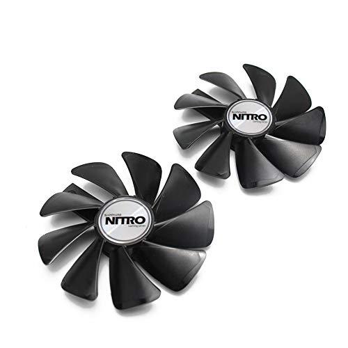2PCS CF1015H12D 12V 0.42A 95MM RX 580 Nitro Mining Edition VGA Fan for Sapphire RX 470 480 570 580 590 Graphics Card Cooling Fan (2PCS Black)