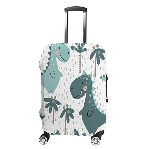 Funda de equipaje gruesa lavable, diseño de dinosaurio bebé, fibra de poliéster, elástica, plegable, ligera, protector de maleta de viaje