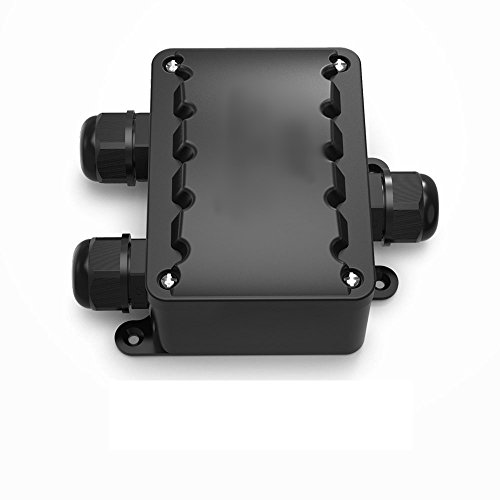 TPBox waterdichte kabelverbinder, verdeeldoos buiten, grotere 3-weg verbindingsdoos aardkabel zwart