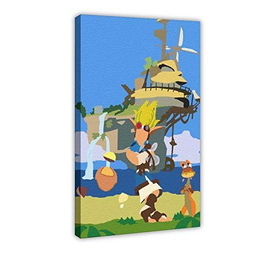 Game Jak and Daxter - Póster de lona para dormitorio, decoración de oficina, oficina, regalo, 60 x 90 cm, estilo marco1