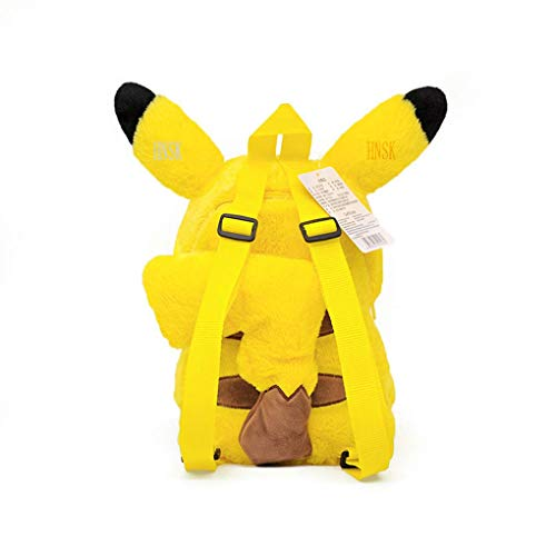 SKYLULU Elf Pikachao Mochila de Peluche Cute Cartoon Doll Bag Gift Meng