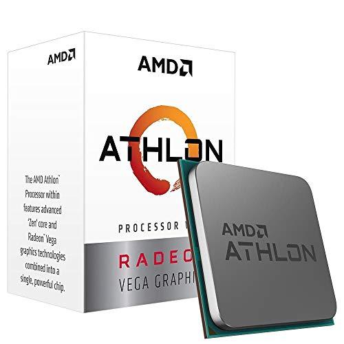 AMD Athlon 3000G Processore con grafica Radeon Vega 3 (2C/4T, orologio base da 3,5 GHz)