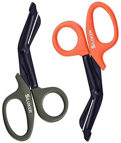 of trauma shears 2 Pack Medical Scissors, EMT and Trauma Shears - Stainless Steel Bandage Scissors for Surgical, First Aid, ER, Nurse, Doctor - 7.5