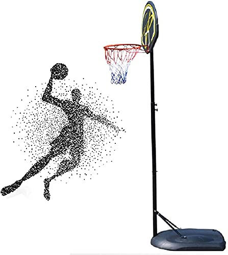 LYYJIAJU Aro de Soporte de Baloncesto portátil Soporte de Baloncesto al Aire Libre Ajustable, los jóvenes Pueden Levantar el Soporte de Baloncesto, la Canasta para niños portátiles y Removibles