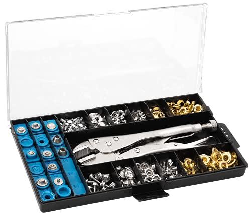 RAM-PRO All-in-One Snap, Grommet, Eyelet & Rivet Plier Tool Kit - The...