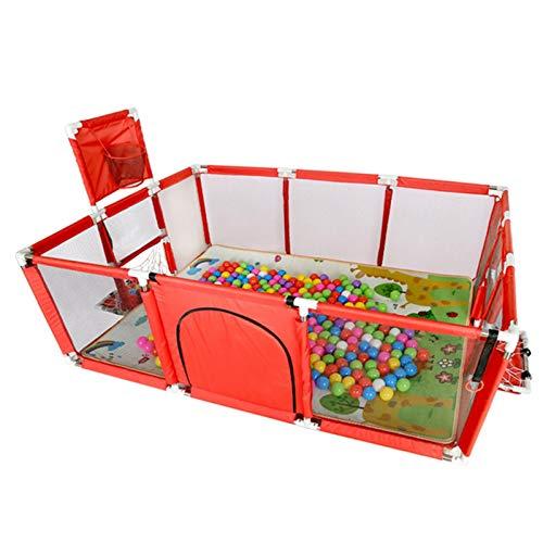 Babybox, grote activiteitenbox met ademend net, voor babys en peuters, eenvoudig te monteren, indoor/outdoor, kinderen, activiteitencentrum met basketbalkorf