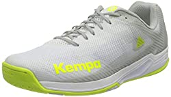 Kempa Damen Wing 2.0 Women Handballschuhe, Mehrfarbig (Weiß/Fluo Gelb 02), 43 EU