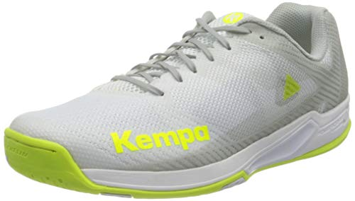 Kempa Damen Wing 2.0 Women Handballschuhe, Mehrfarbig (Weiß/Fluo Gelb 02), 41 EU