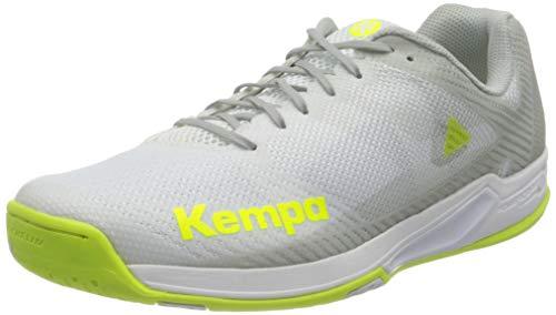 Kempa Damen Wing 2.0 Women Handballschuhe, Mehrfarbig (Weiß/Fluo Gelb 02), 42 EU