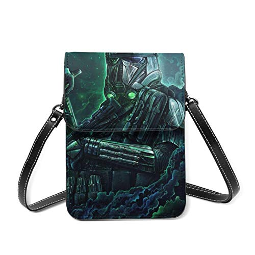 XCNGG Monedero pequeño para teléfono celular St-ar-W-ar Lightweight Leather Phone Purse, Women Multicolor Handbag Small Crossbody Bag Mini Cell Phone Pouch Shoulder Bag.with Adjustable Strap