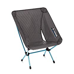 This backpacking gift idea image shows the ultralight Helinox Chair Zero.
