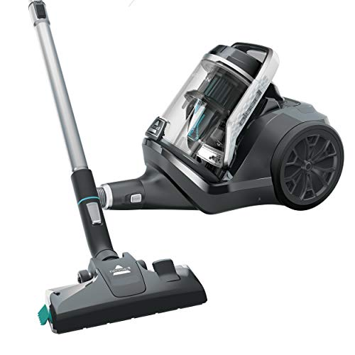 BISSELL SmartClean Canister Vacuum Cleaner, 2268, Black with Pearl White/Electric Blue Accents