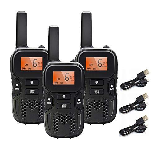 特定小電力トランシーバー 3台セット TRH R8 省電力 多機能 USB充電式無線機 小型軽量 VOXハンズフリー機能 1対多交信可能です 免許・資格不要 親子アクティビティ、子供用