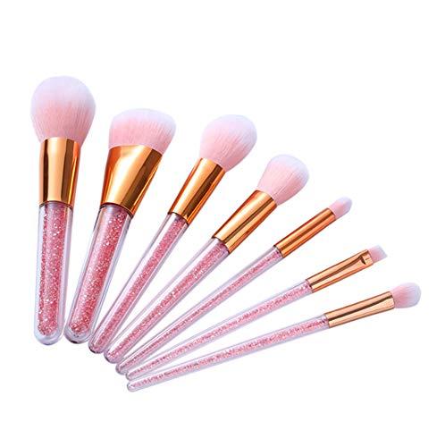 Unknow DAMM7 Maquillage Brosse en Plastique Poignée Lavable Multifonctionnel Fibre Artificielle Maquillage Brosse Ensemble De Maquillage Convient pour Les Débutants