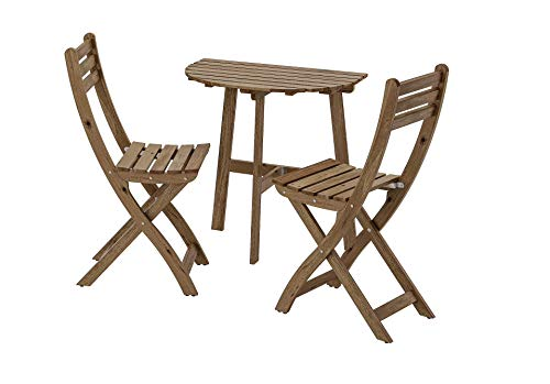 Opulence Trading - Juego de Muebles Plegables para jardín (1 Mesa + 2 sillas)