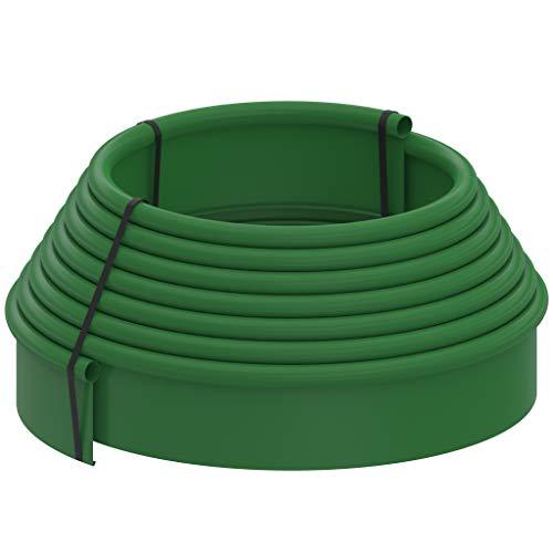 Standartpark Bordura para Jardin de plastico en Rollo de 10 Metros h 110mm Color Verde