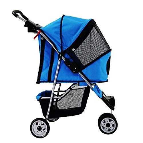Hundebuggy Buggy Kinderwagen für Mittlere Hunde/Katzen, Luxus Hunde Pram Spaziergänger Rüttler Pet Stroller mit...