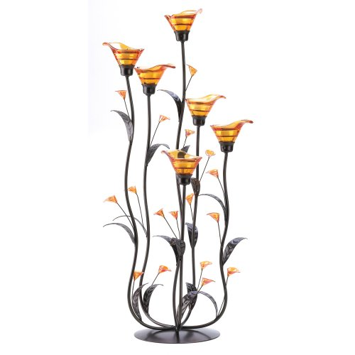Elegant Calla Lily Glass Tealight Holders