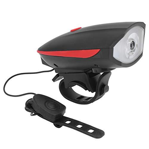 VGEBY Faro de Bicicleta, USB Luz LED para Bicicleta Luz Delantera Nocturna para Bicicleta con bocina de Advertencia Accesorios para Ciclismo