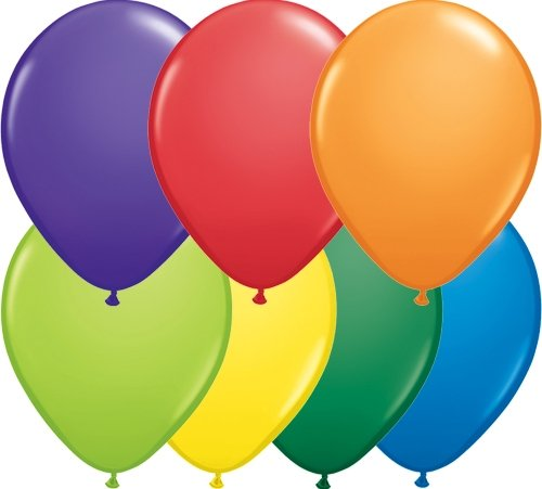 Unbekannt 50 Mini Basis Ballons bunt gemischt , ca. 13 cm
