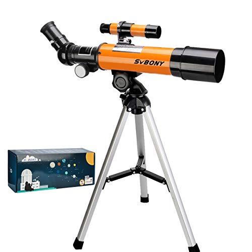 Svbony SV502 Telescopio para Niños, Telescopio Astronomico Niños Profesionales, 360/50mm con Trípode Telescopio para Niños Adultos
