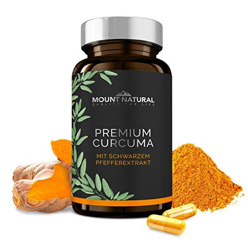 Curcuma Kapseln im Glas - Hochdosiert, Vegan. Kurkuma Pulver + 95% ig Curcumin Extrakt (Entspricht Ca. 13.000mg/Tag) + Piperin, Laborgeprüft & Aus Deutschland