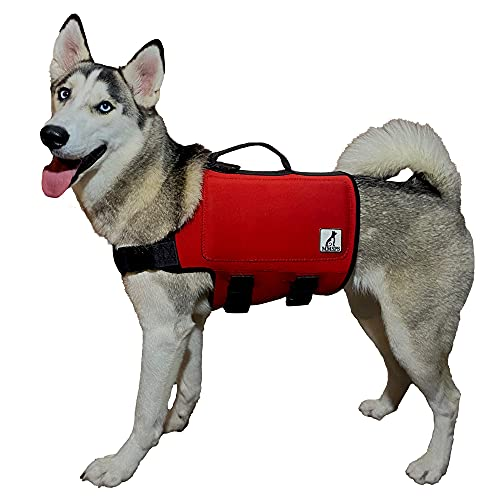 MMSPS Dog Life Vest for Swimming | Jacket Handle for Rescue | Comfortable & Snug Fit Life Lifesaver...